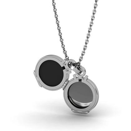 Kiroco NFC Fluted Orbital & Locket Necklaces