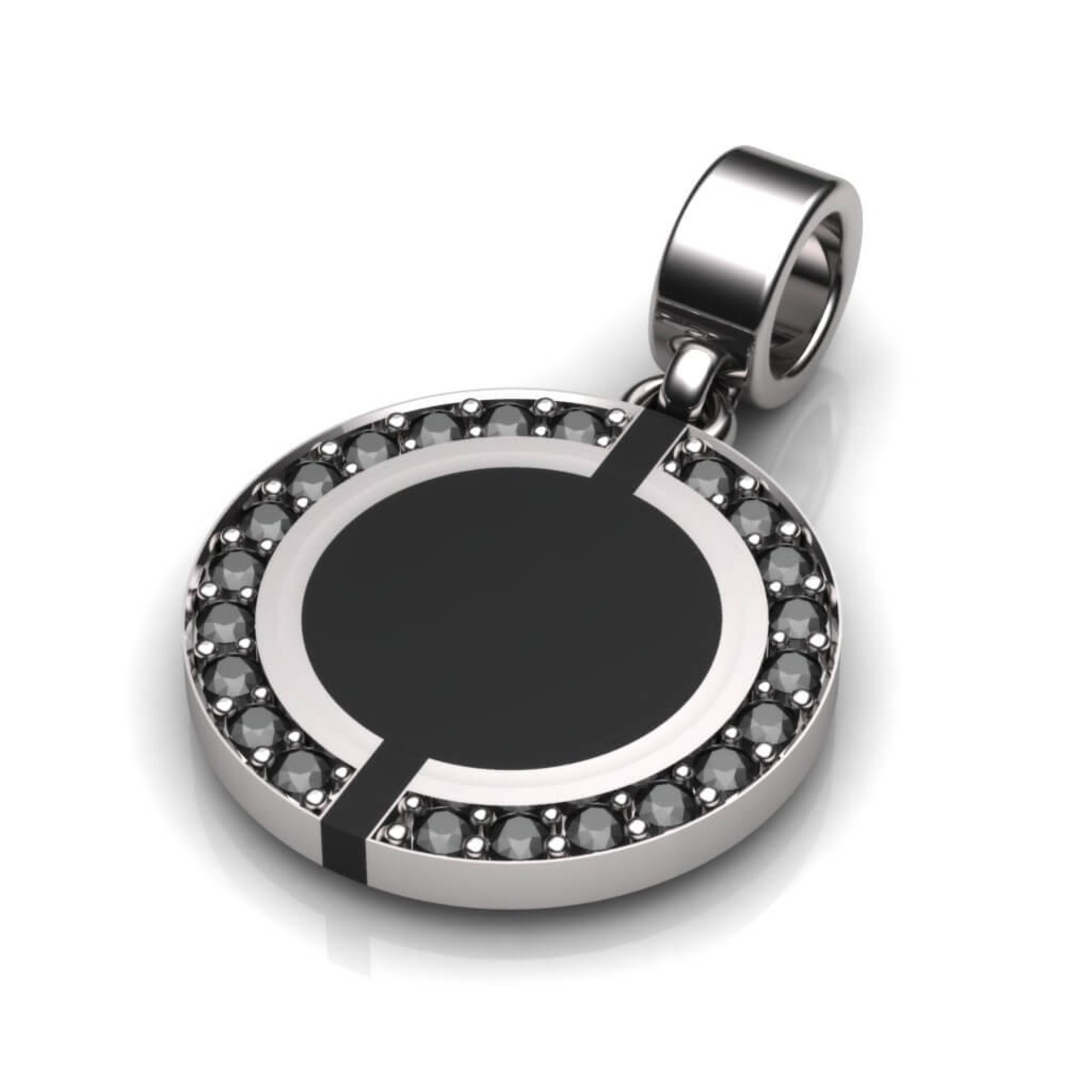 Kiroco NFC Crystal Enamel Disc Necklace