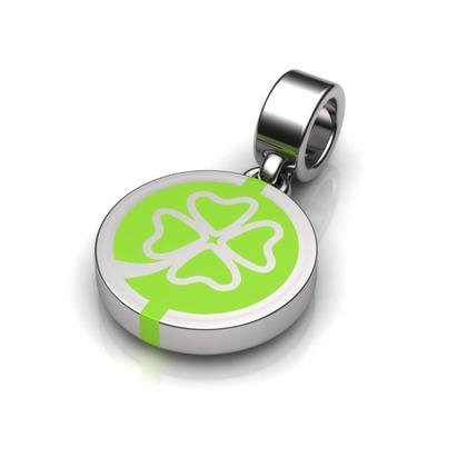 Kiroco NFC Clover Disc Charm Bracelets